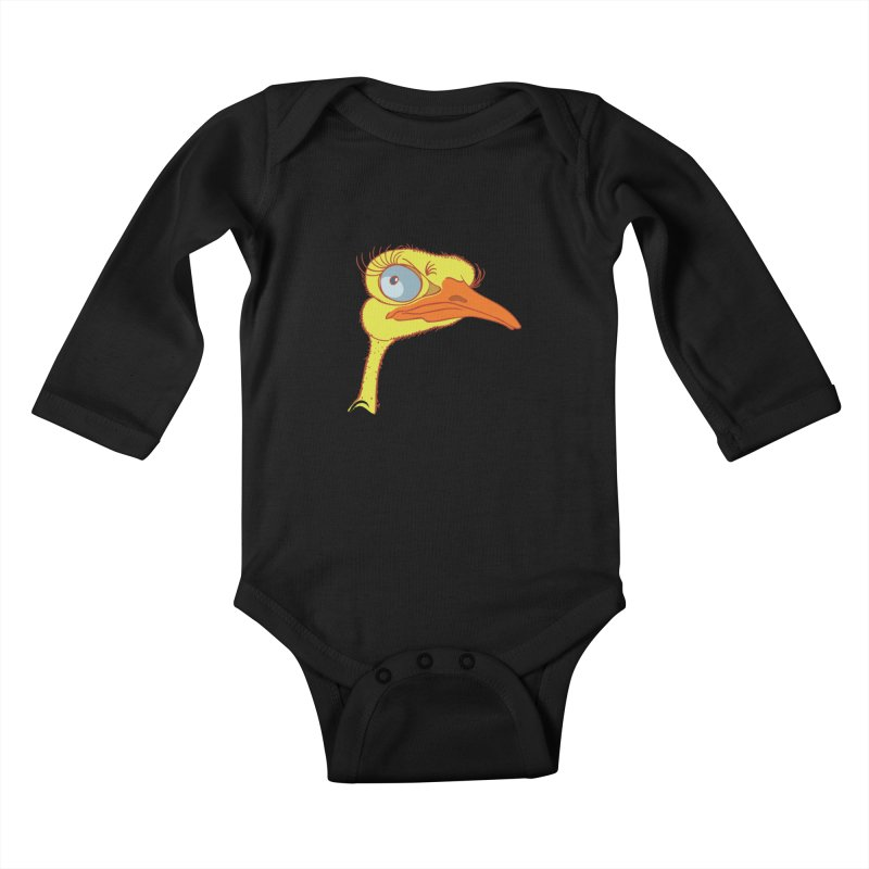 Ostrich Kids Baby Longsleeve Bodysuit by CB Design