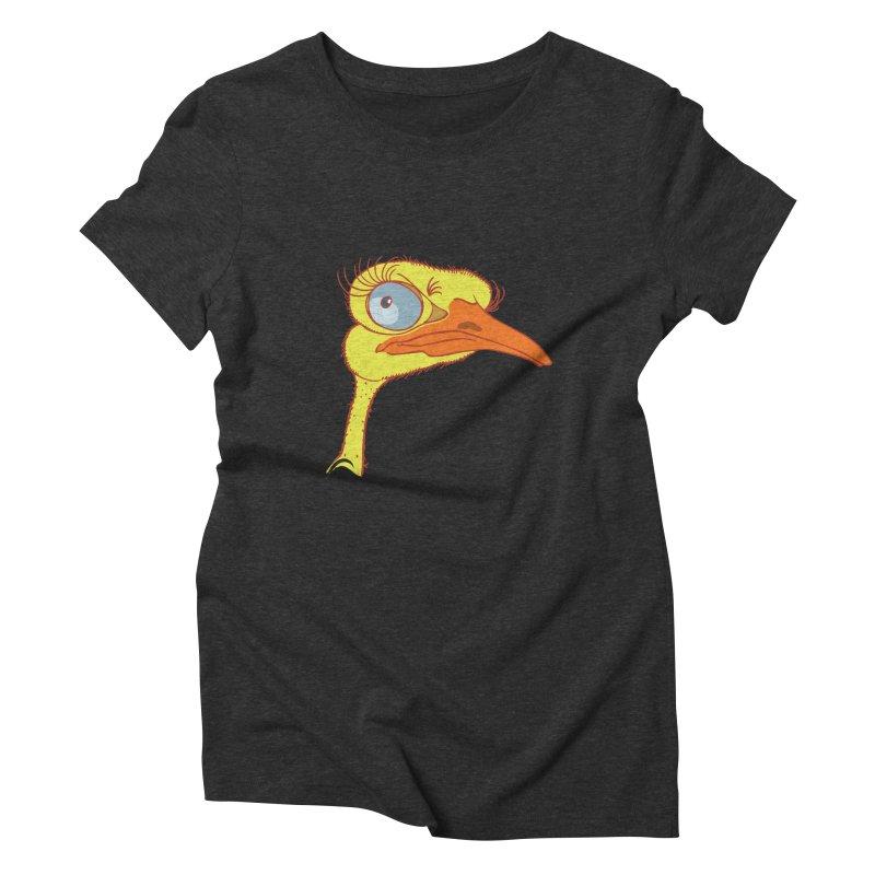 Ostrich Women's Triblend T-Shirt by CB Design