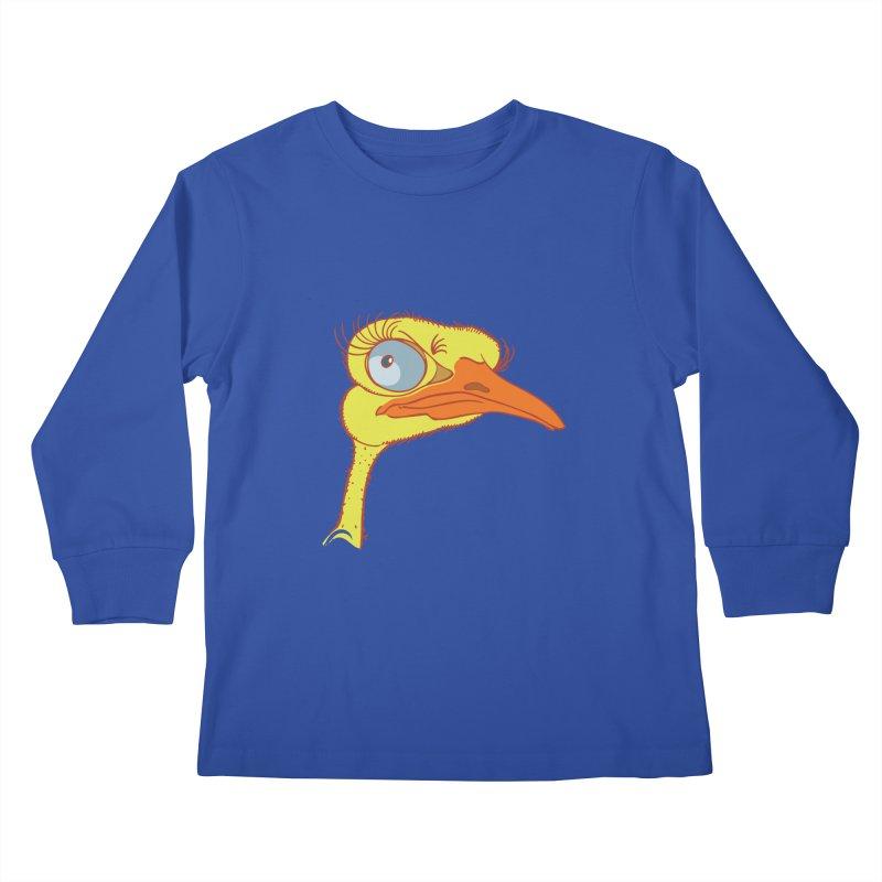 Ostrich Kids Longsleeve T-Shirt by CB Design