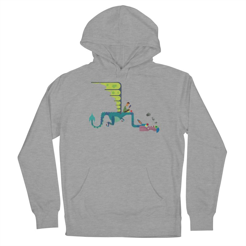 Book Dragon/ tees and sweaters Women's French Terry Pullover Hoody by CDFBstuff