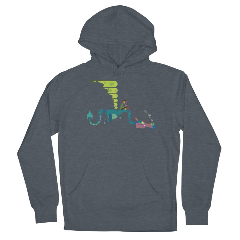 Book Dragon/ tees and sweaters Men's French Terry Pullover Hoody by CDFBstuff
