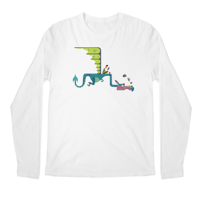 Book Dragon/ tees and sweaters Men's Regular Longsleeve T-Shirt by CDFBstuff