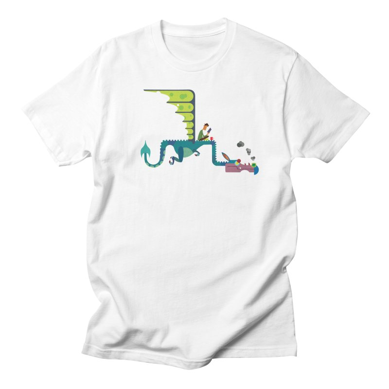 Book Dragon/ tees and sweaters Men's Regular T-Shirt by CDFBstuff
