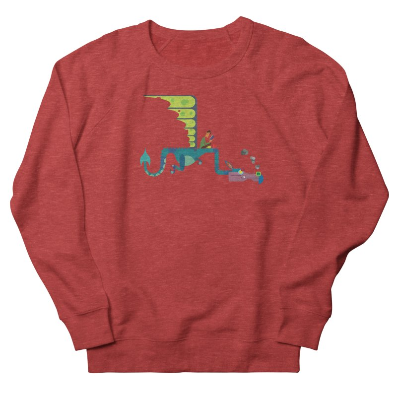 Book Dragon/ tees and sweaters Men's French Terry Sweatshirt by CDFBstuff