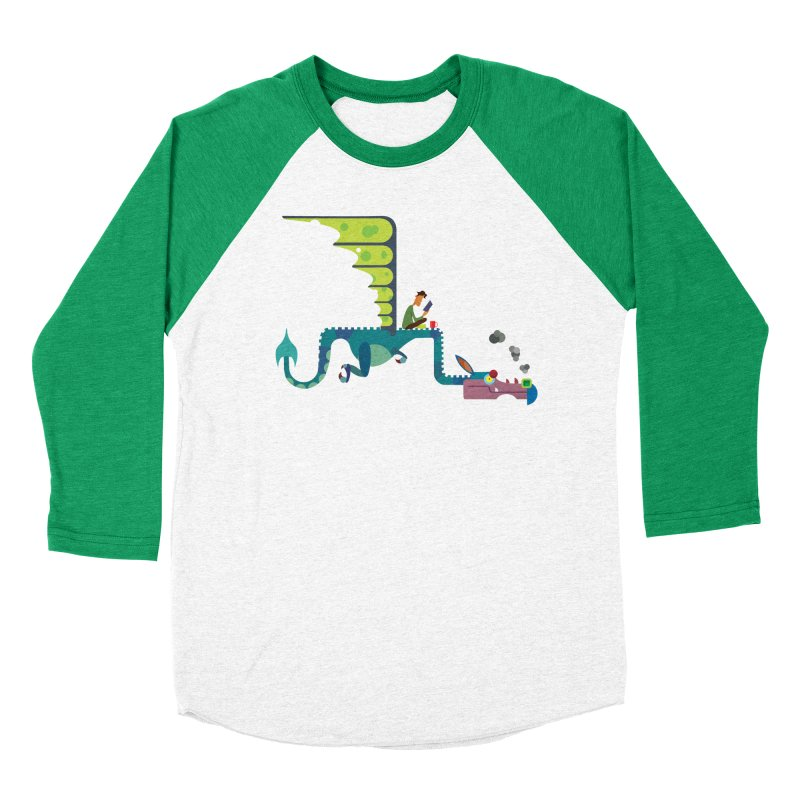 Book Dragon/ tees and sweaters Women's Baseball Triblend Longsleeve T-Shirt by CDFBstuff