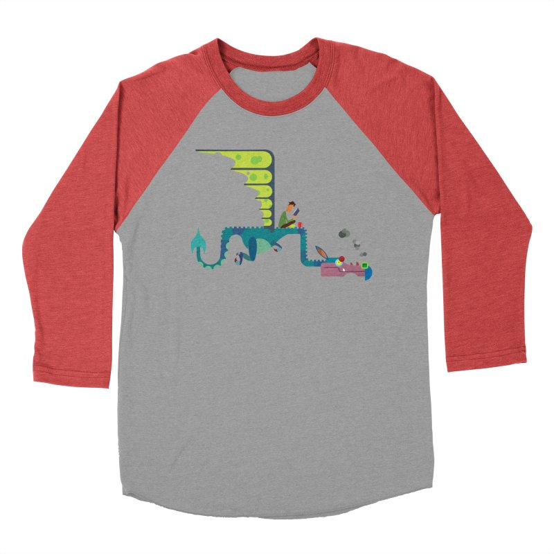 Book Dragon/ tees and sweaters Men's Baseball Triblend Longsleeve T-Shirt by CDFBstuff