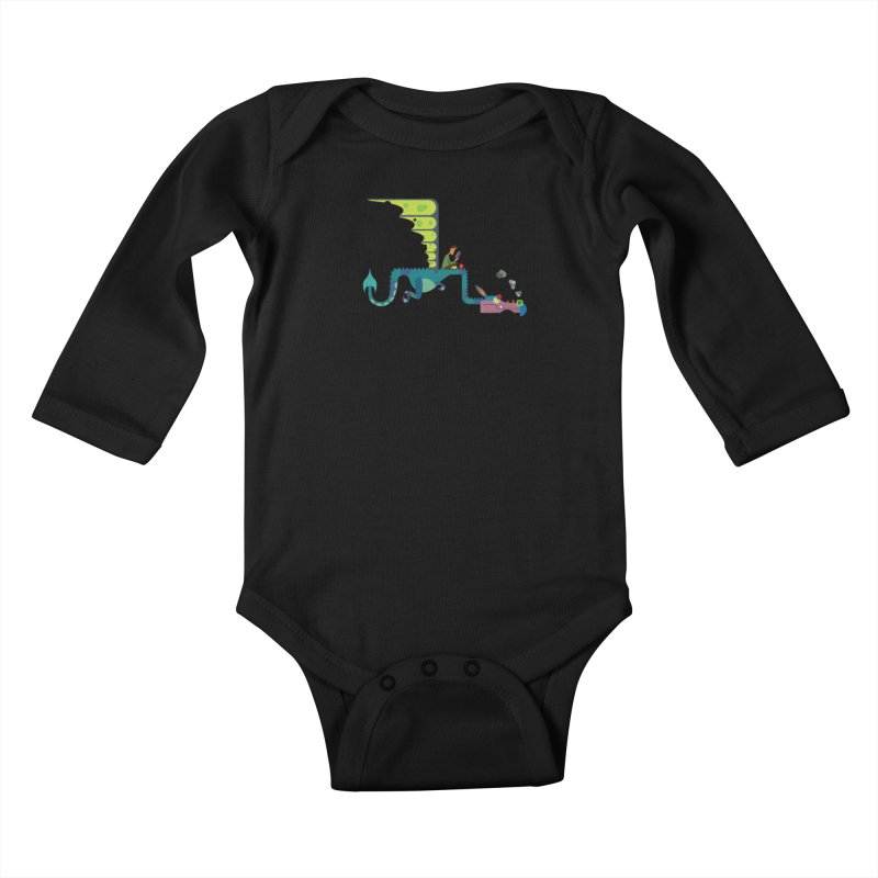 Book Dragon/ tees and sweaters Kids Baby Longsleeve Bodysuit by CDFBstuff