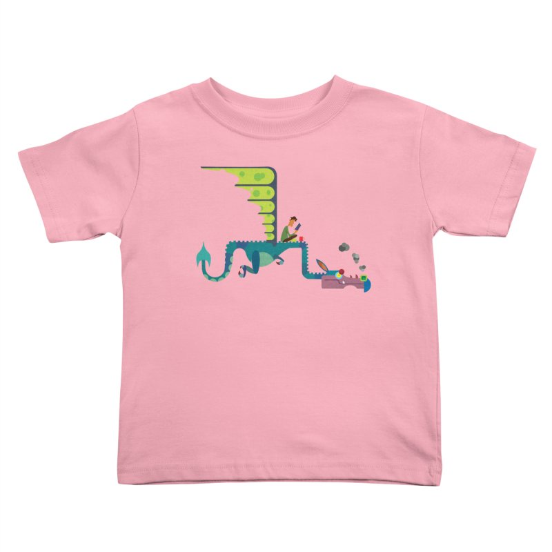 Book Dragon/ tees and sweaters Kids Toddler T-Shirt by CDFBstuff