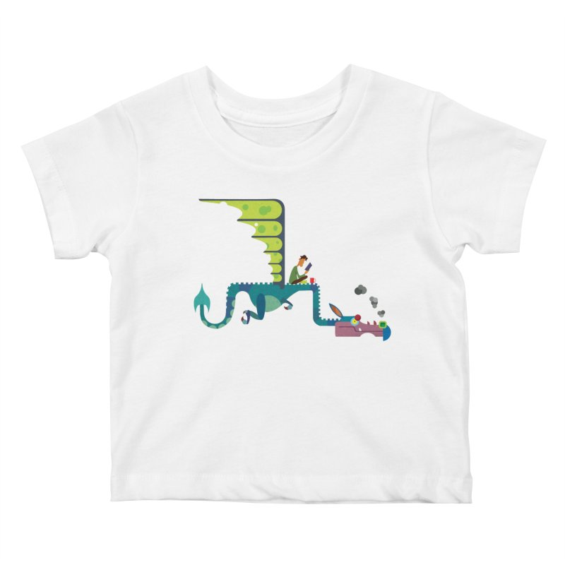Book Dragon/ tees and sweaters Kids Baby T-Shirt by CDFBstuff