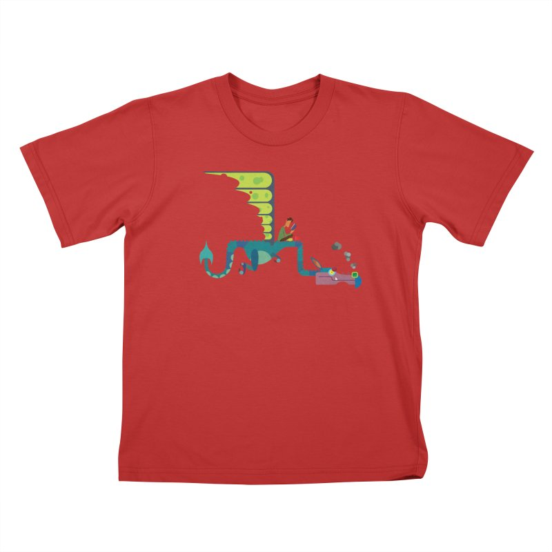 Book Dragon/ tees and sweaters Kids T-Shirt by CDFBstuff