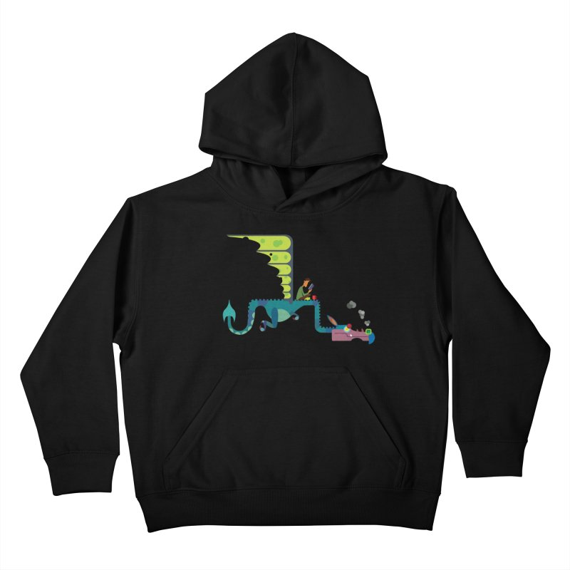 Book Dragon/ tees and sweaters Kids Pullover Hoody by CDFBstuff
