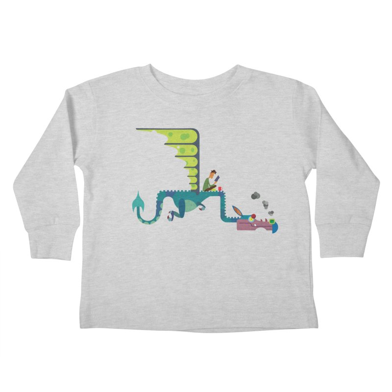 Book Dragon/ tees and sweaters Kids Toddler Longsleeve T-Shirt by CDFBstuff
