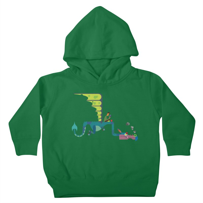 Book Dragon/ tees and sweaters Kids Toddler Pullover Hoody by CDFBstuff