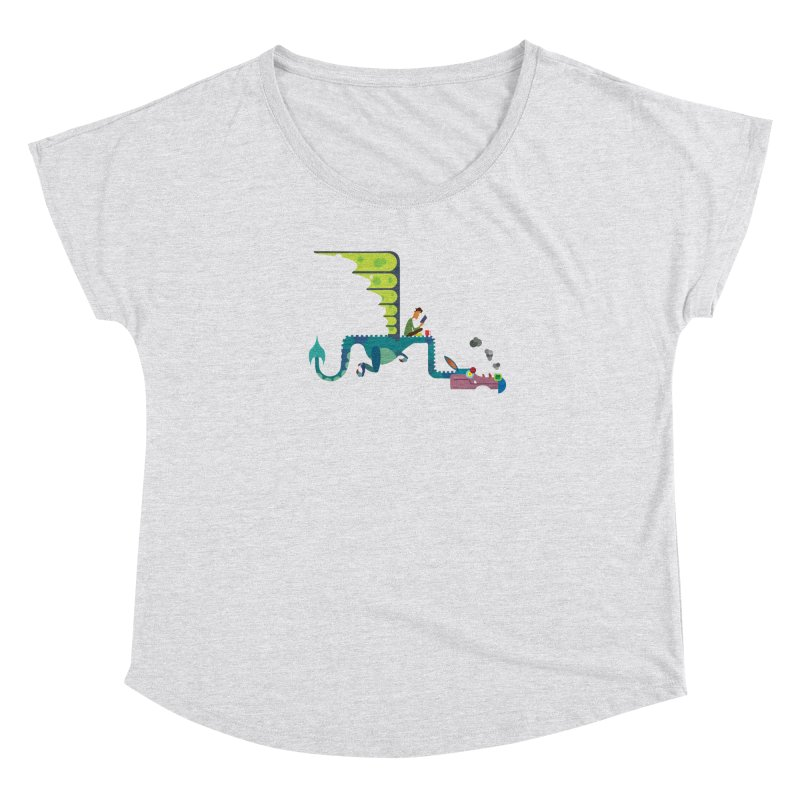 Book Dragon/ tees and sweaters Women's Dolman Scoop Neck by CDFBstuff