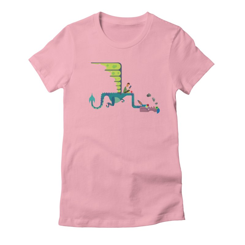 Book Dragon/ tees and sweaters Women's Fitted T-Shirt by CDFBstuff