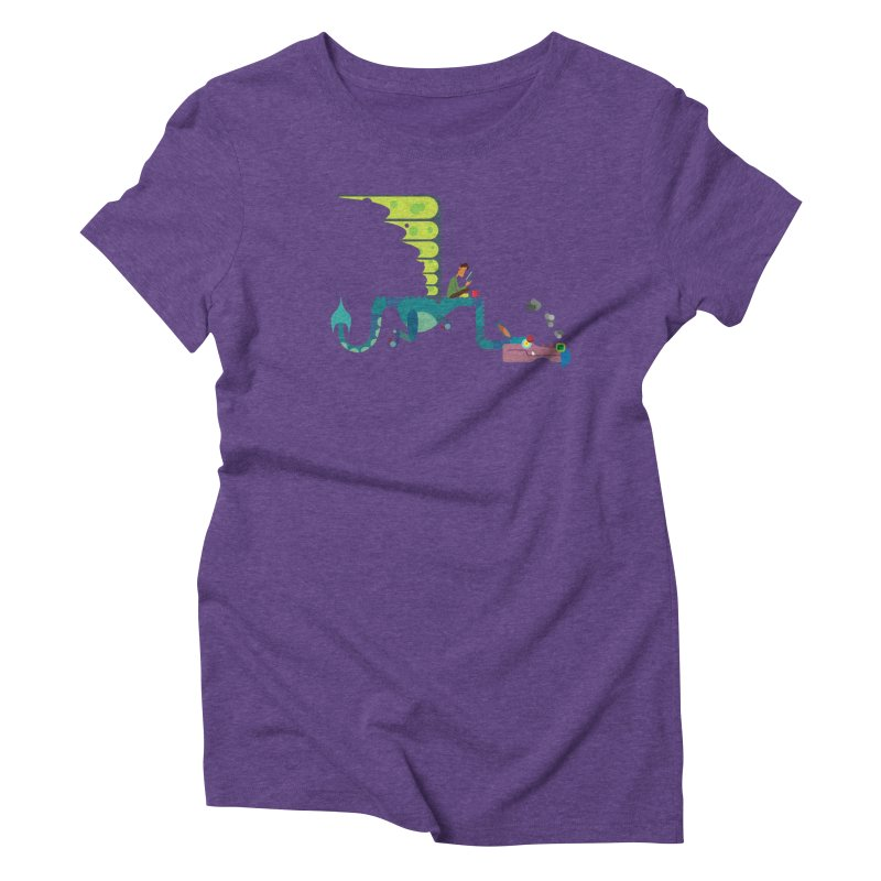 Book Dragon/ tees and sweaters Women's Triblend T-Shirt by CDFBstuff