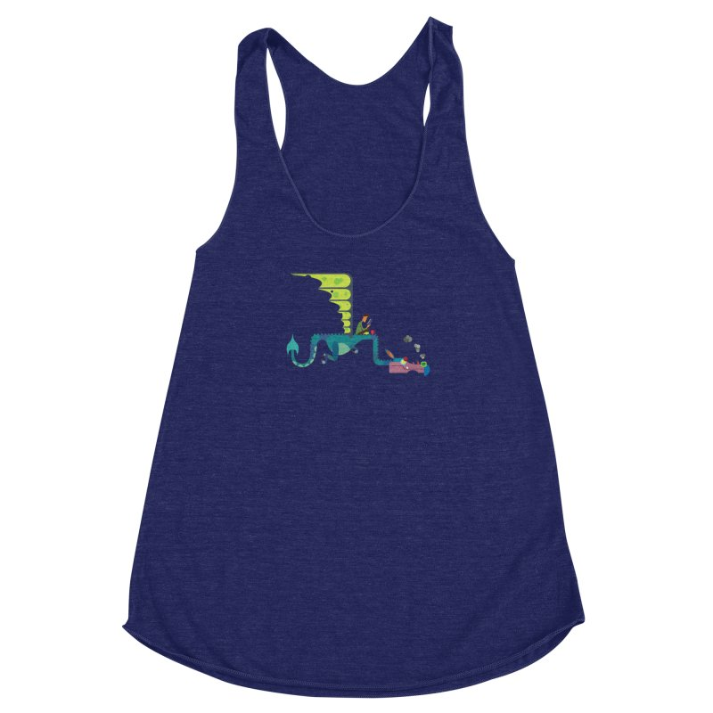 Book Dragon/ tees and sweaters Women's Racerback Triblend Tank by CDFBstuff