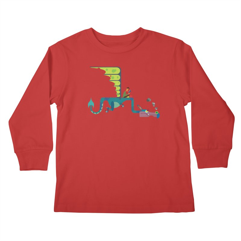 Book Dragon/ tees and sweaters Kids Longsleeve T-Shirt by CDFBstuff