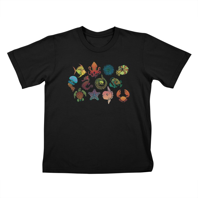 Sealife/ tees and sweaters Kids T-Shirt by CDFBstuff