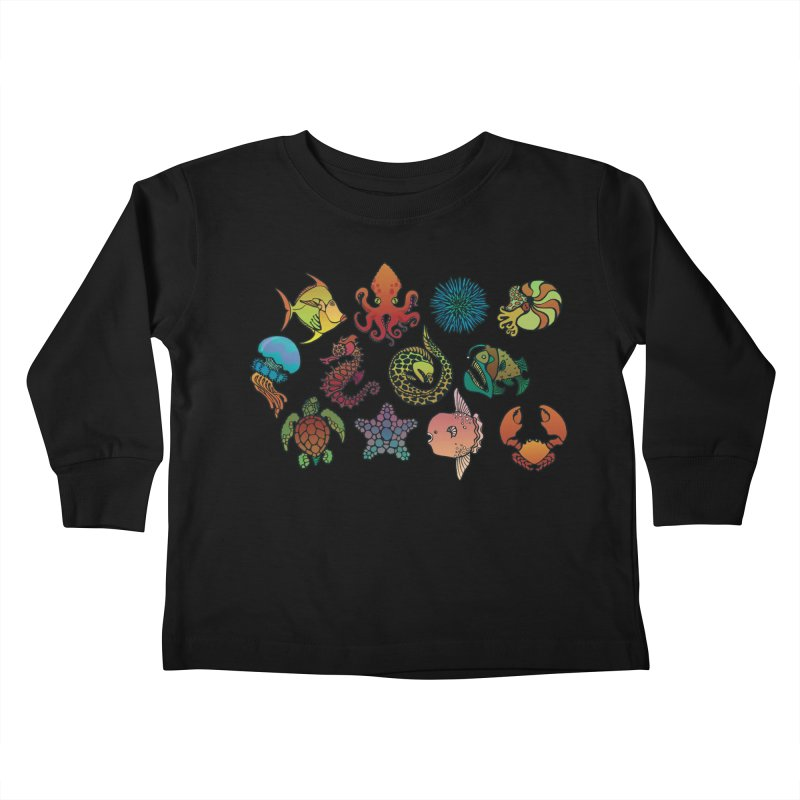 Sealife/ tees and sweaters Kids Toddler Longsleeve T-Shirt by CDFBstuff