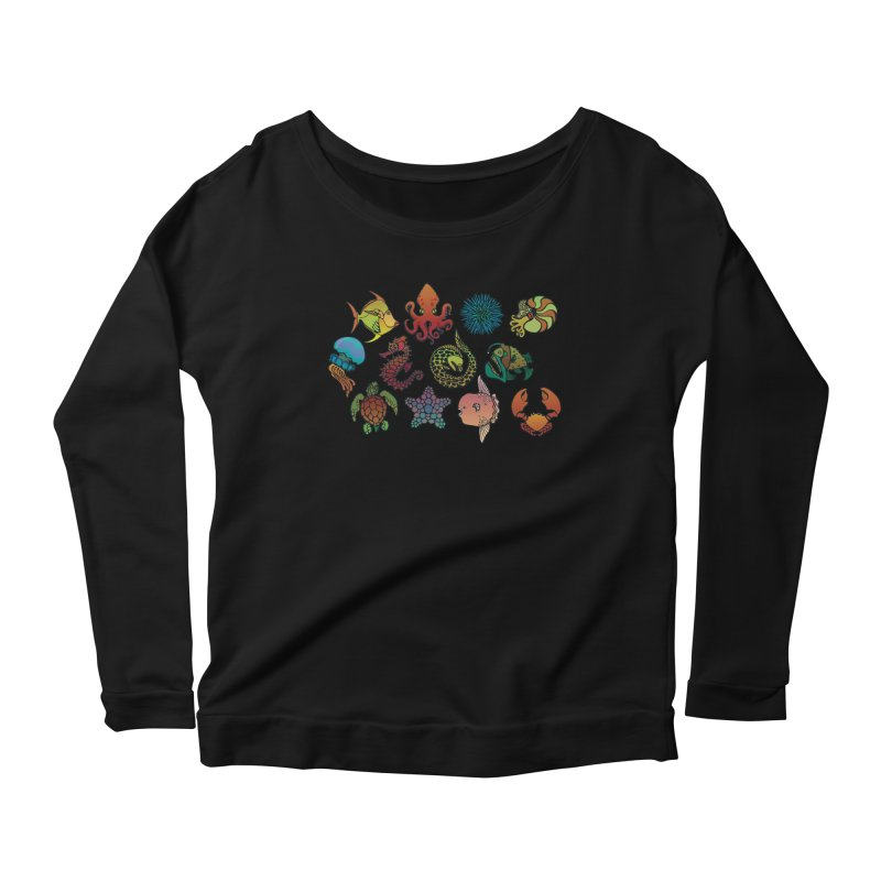 Sealife/ tees and sweaters Women's Scoop Neck Longsleeve T-Shirt by CDFBstuff