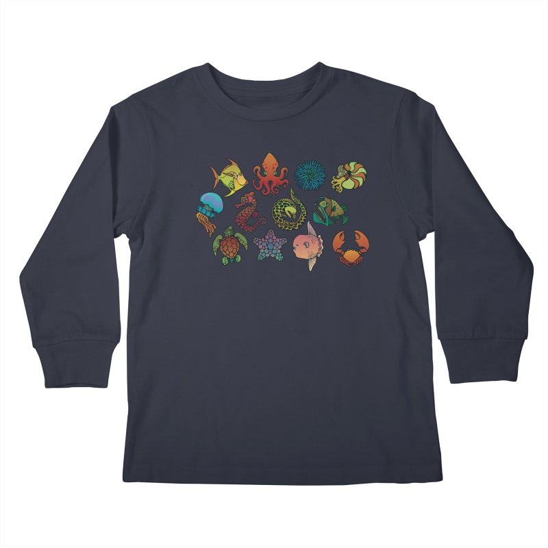 Sealife/ tees and sweaters Kids Longsleeve T-Shirt by CDFBstuff