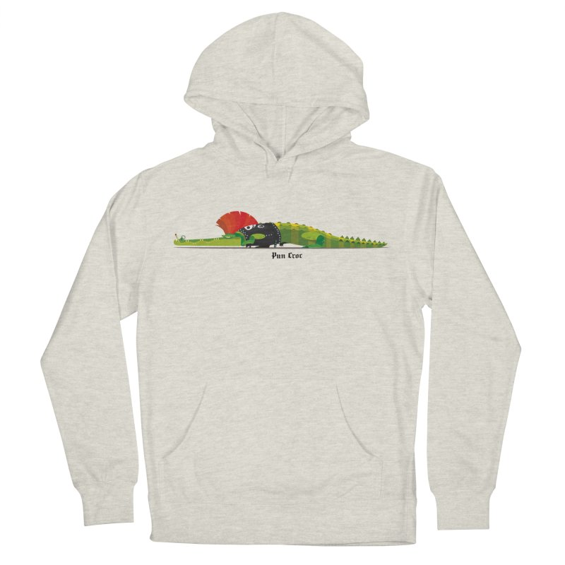 Pun Croc small/ tees and sweaters (light colours) Men's French Terry Pullover Hoody by CDFBstuff