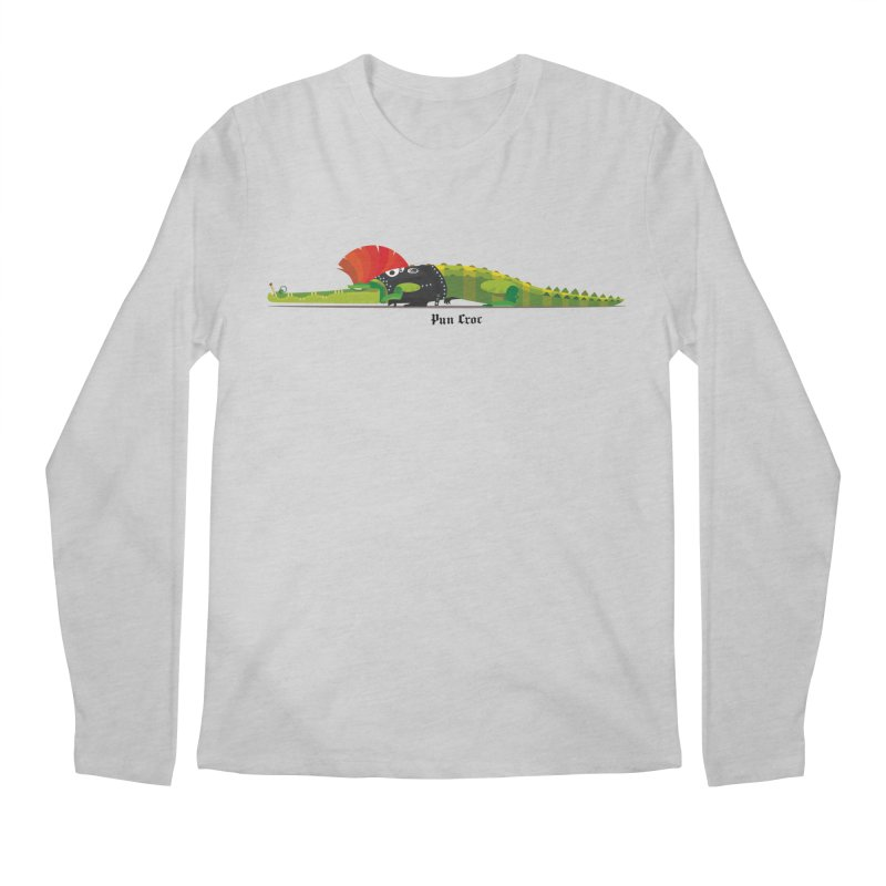 Pun Croc small/ tees and sweaters (light colours) Men's Regular Longsleeve T-Shirt by CDFBstuff