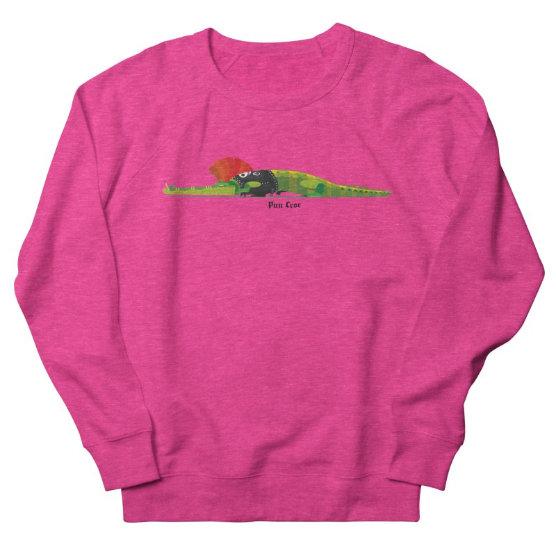 Pun Croc small/ tees and sweaters (light colours) Women's French Terry Sweatshirt by CDFBstuff
