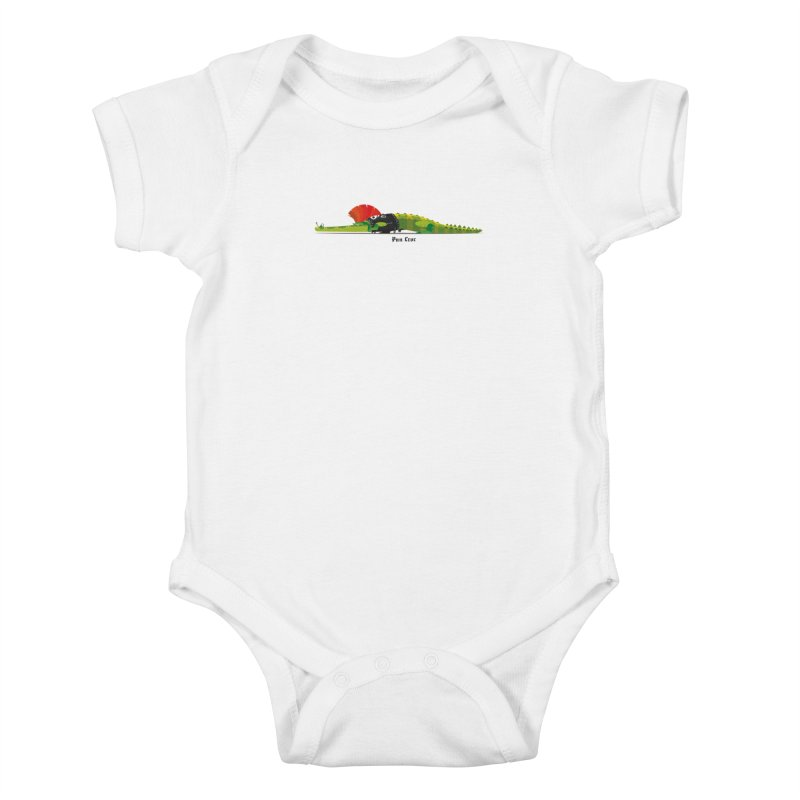 Pun Croc small/ tees and sweaters (light colours) Kids Baby Bodysuit by CDFBstuff