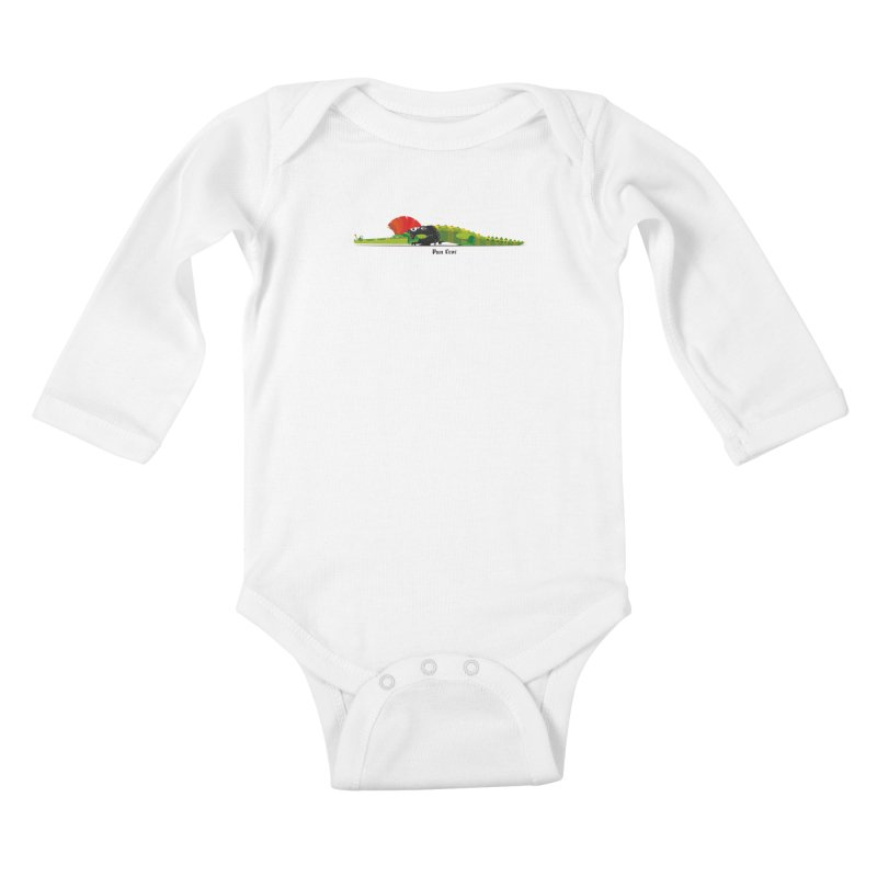 Pun Croc small/ tees and sweaters (light colours) Kids Baby Longsleeve Bodysuit by CDFBstuff