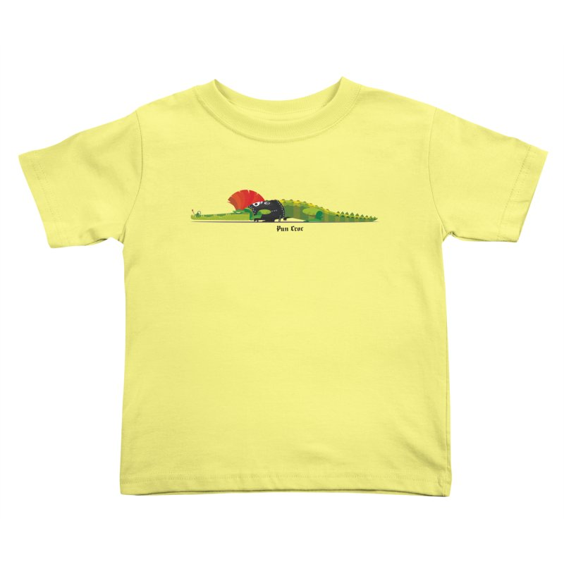 Pun Croc small/ tees and sweaters (light colours) Kids Toddler T-Shirt by CDFBstuff