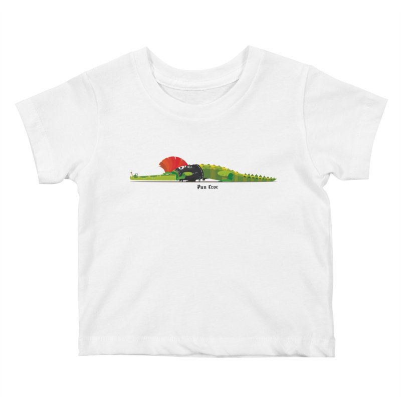 Pun Croc small/ tees and sweaters (light colours) Kids Baby T-Shirt by CDFBstuff