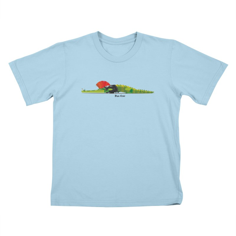 Pun Croc small/ tees and sweaters (light colours) Kids T-Shirt by CDFBstuff