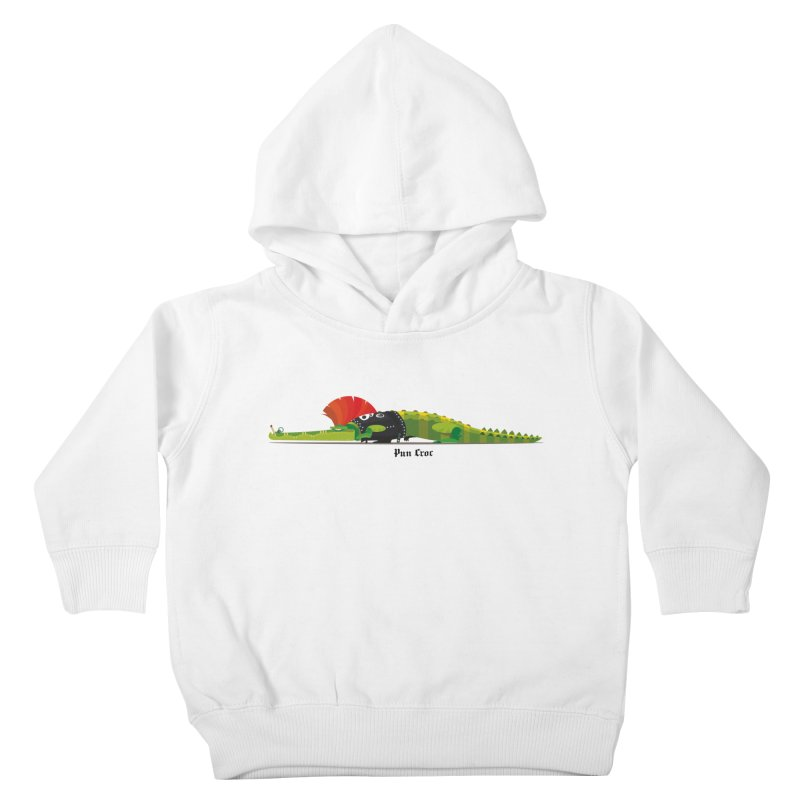 Pun Croc small/ tees and sweaters (light colours) Kids Toddler Pullover Hoody by CDFBstuff