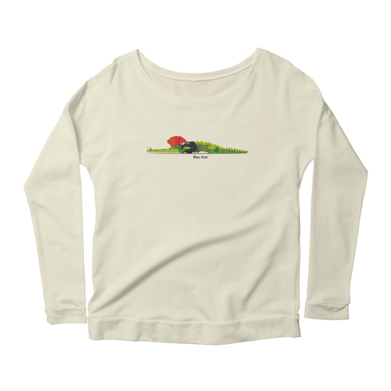 Pun Croc small/ tees and sweaters (light colours) Women's Scoop Neck Longsleeve T-Shirt by CDFBstuff