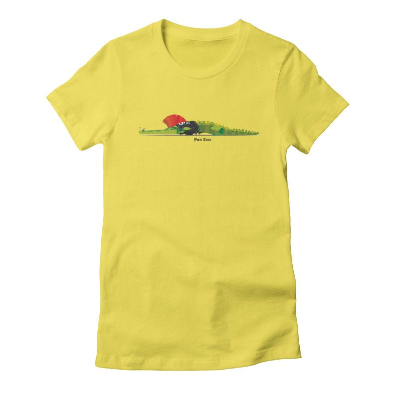 Pun Croc small/ tees and sweaters (light colours) Women's Fitted T-Shirt by CDFBstuff