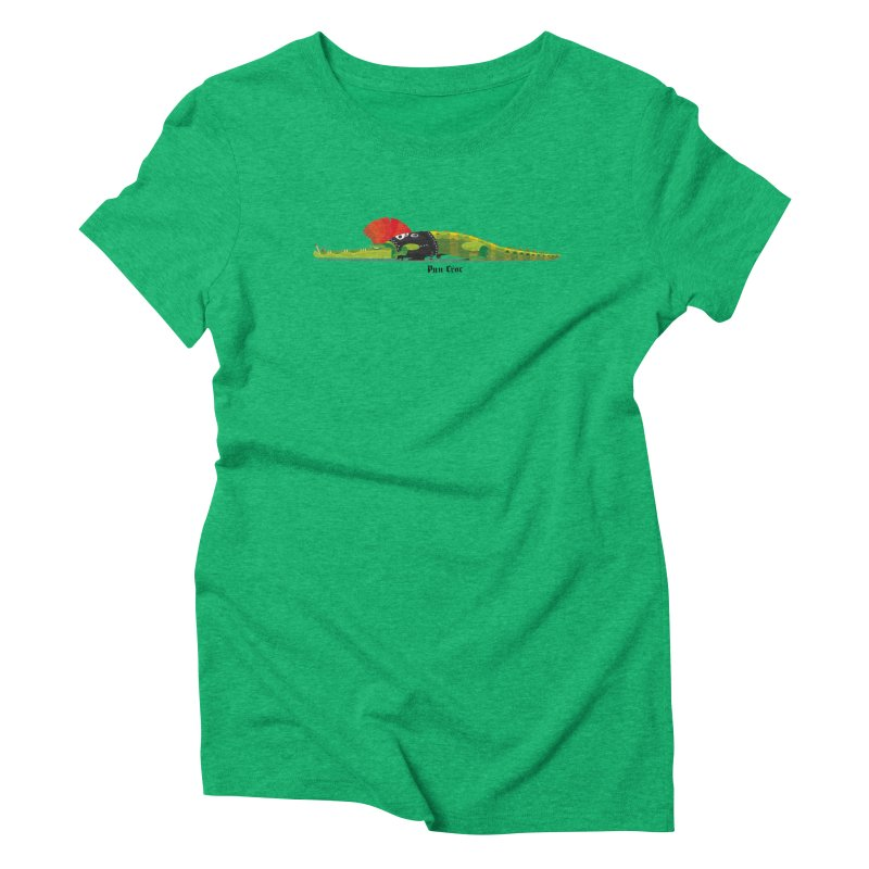 Pun Croc small/ tees and sweaters (light colours) Women's Triblend T-Shirt by CDFBstuff