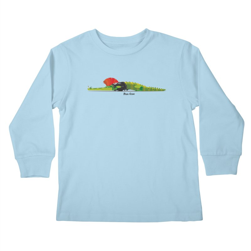 Pun Croc small/ tees and sweaters (light colours) Kids Longsleeve T-Shirt by CDFBstuff