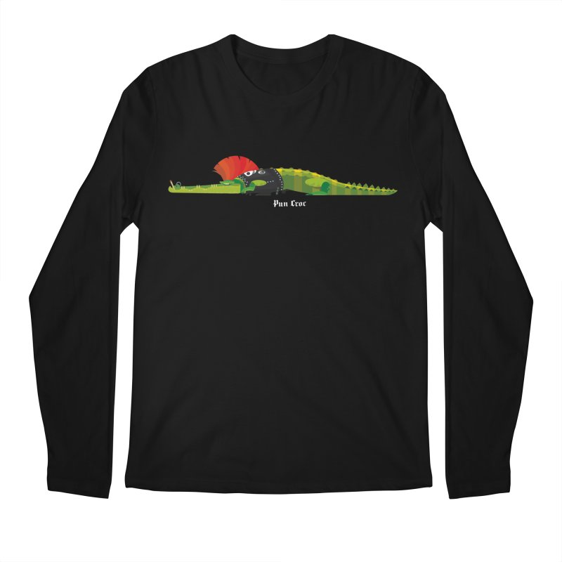 Pun Croc small/ tees and sweaters (dark colours) Men's Regular Longsleeve T-Shirt by CDFBstuff