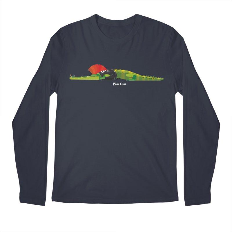 Pun Croc small/ tees and sweaters (dark colours) Men's Regular Longsleeve T-Shirt by CDFBstuff