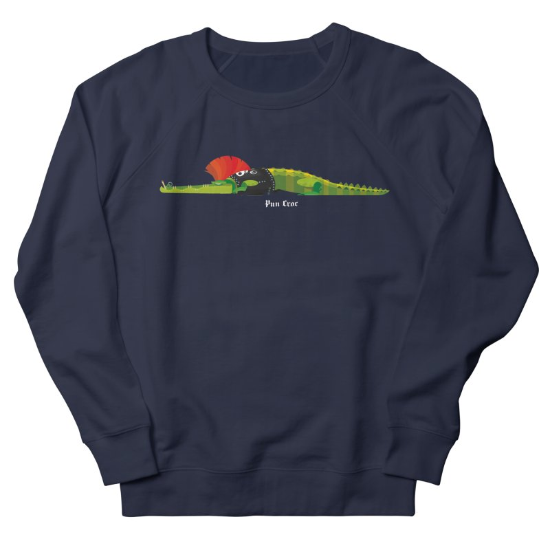 Pun Croc small/ tees and sweaters (dark colours) Women's French Terry Sweatshirt by CDFBstuff