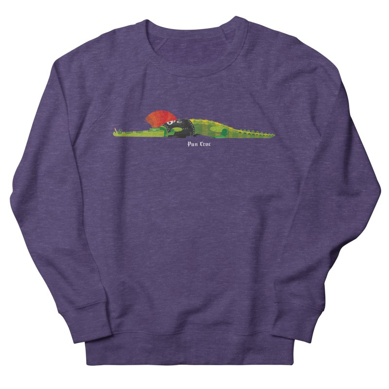Pun Croc small/ tees and sweaters (dark colours) Men's French Terry Sweatshirt by CDFBstuff