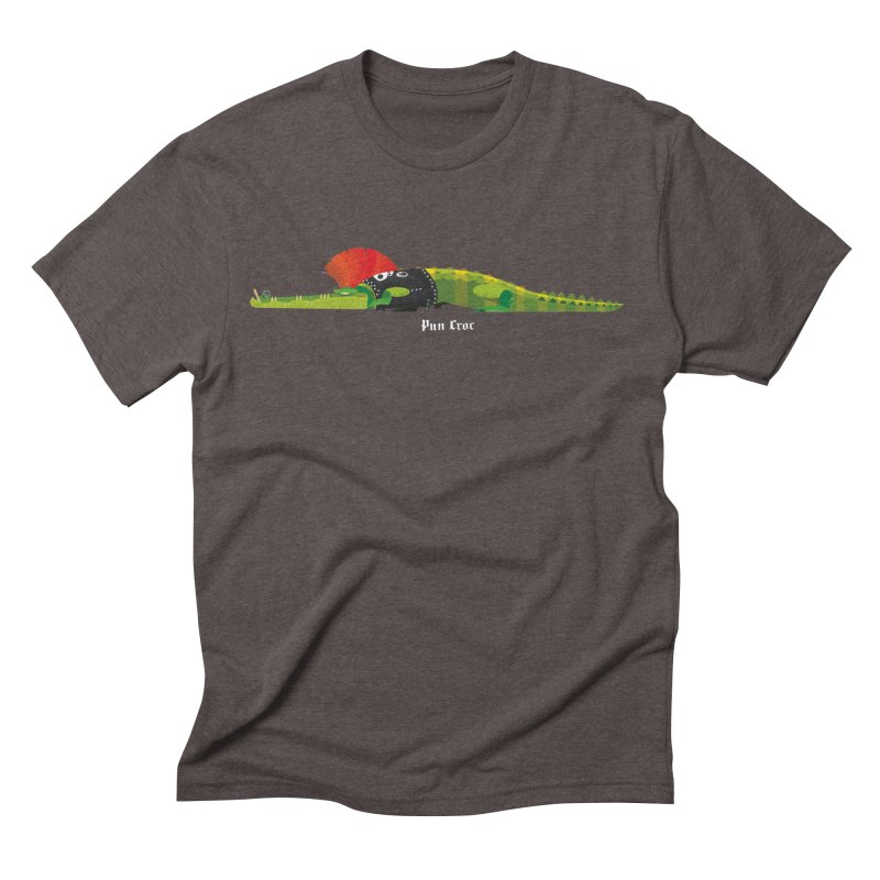 Pun Croc small/ tees and sweaters (dark colours) Men's Triblend T-Shirt by CDFBstuff
