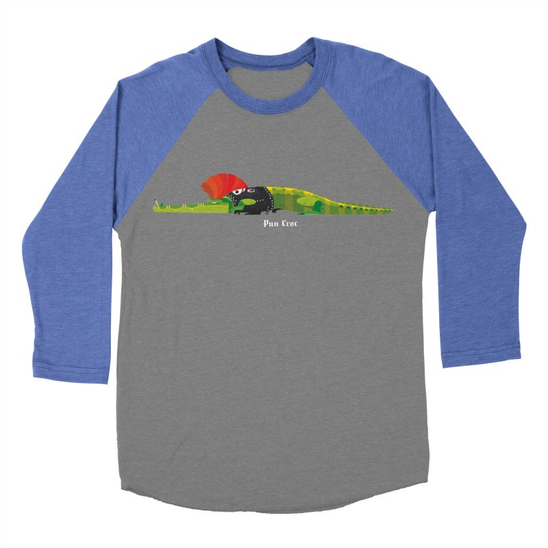 Pun Croc small/ tees and sweaters (dark colours) Men's Baseball Triblend Longsleeve T-Shirt by CDFBstuff
