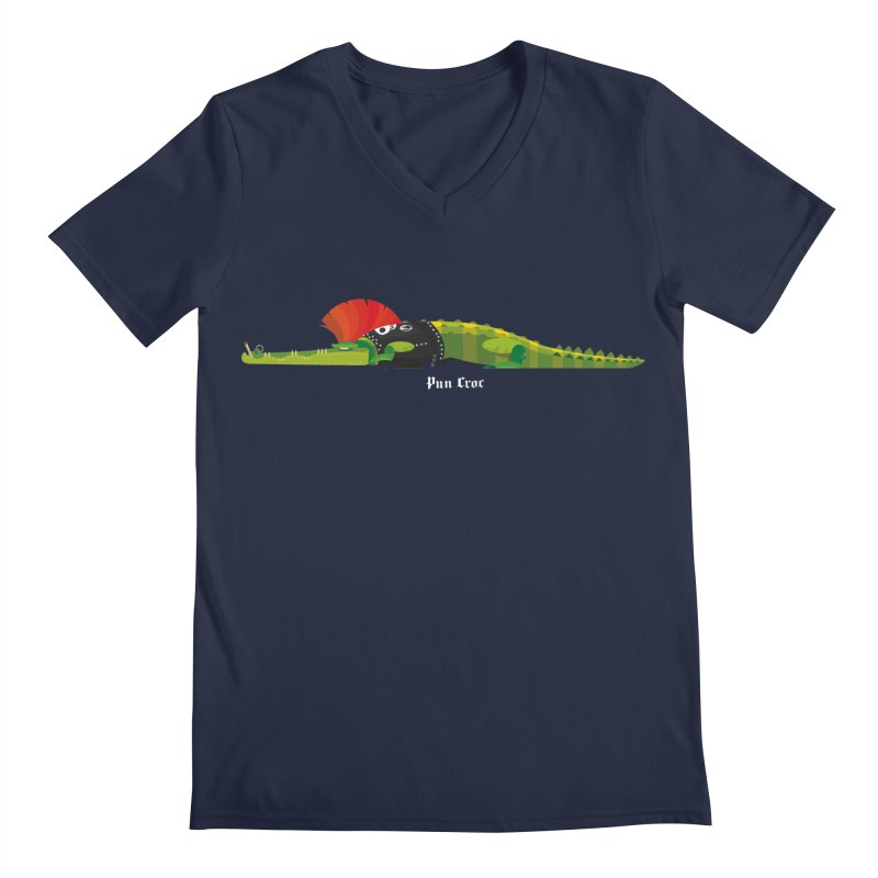 Pun Croc small/ tees and sweaters (dark colours) Men's Regular V-Neck by CDFBstuff