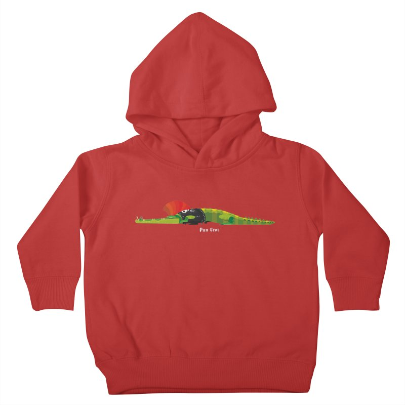 Pun Croc small/ tees and sweaters (dark colours) Kids Toddler Pullover Hoody by CDFBstuff