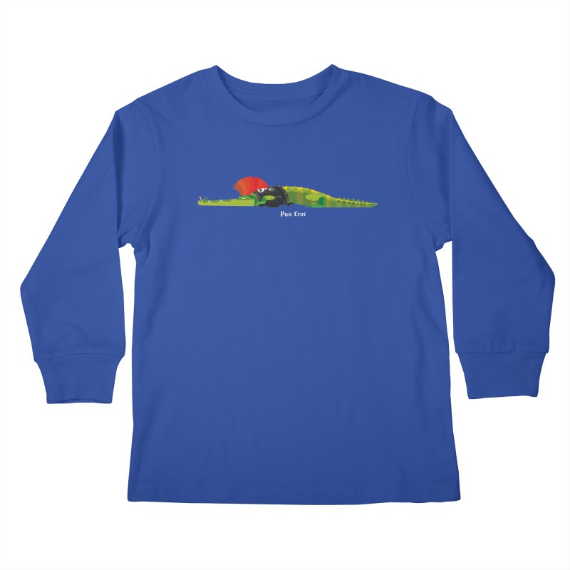 Pun Croc small/ tees and sweaters (dark colours) Kids Longsleeve T-Shirt by CDFBstuff