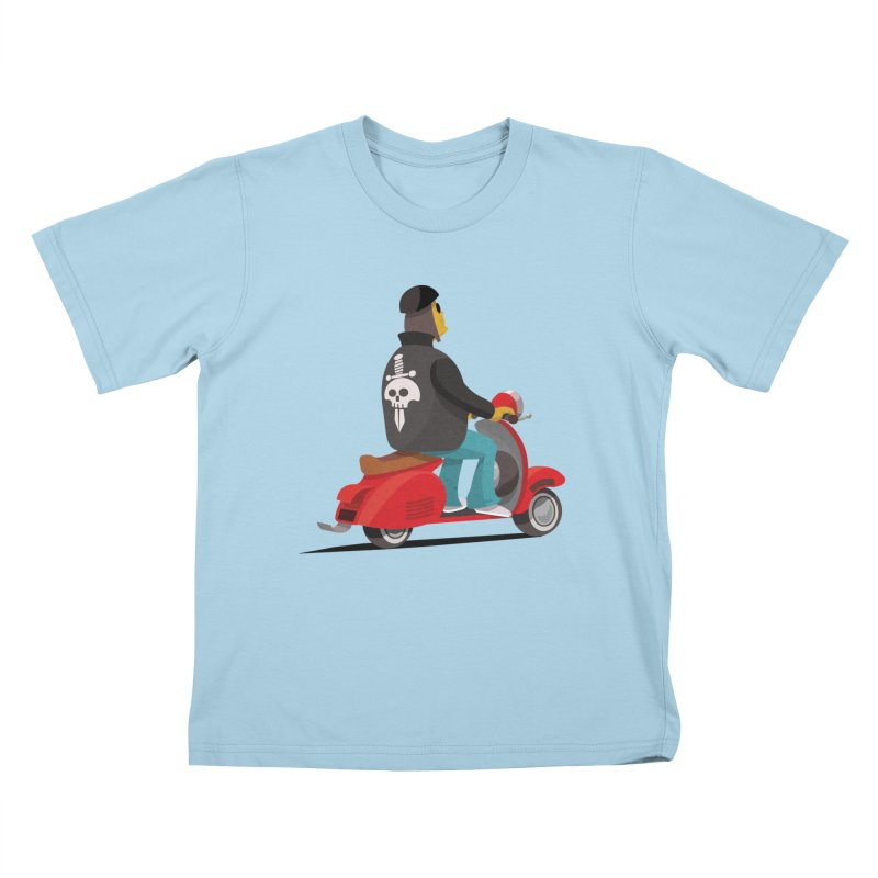 Low Rider/ tees and sweaters in Kids T-Shirt Powder Blue by CDFBstuff