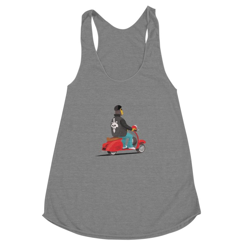 Low Rider/ tees and sweaters Women's Racerback Triblend Tank by CDFBstuff